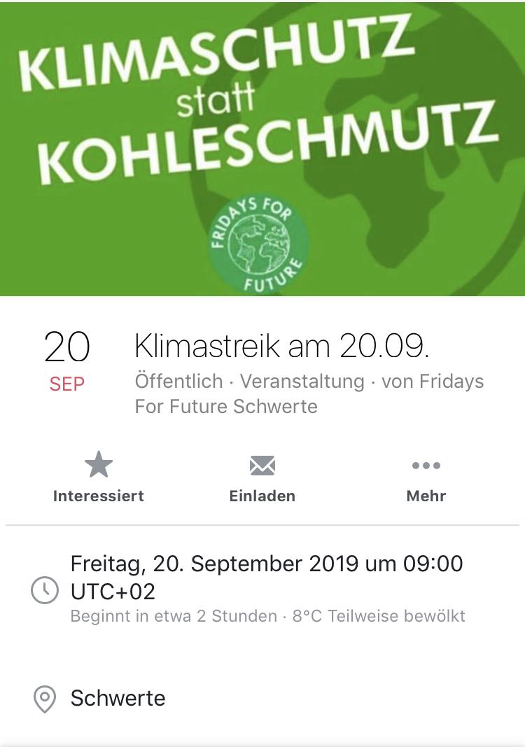 Alle fürs Klima *UPDATE mit Bildern der Demos in Schwerte und Dortmund*