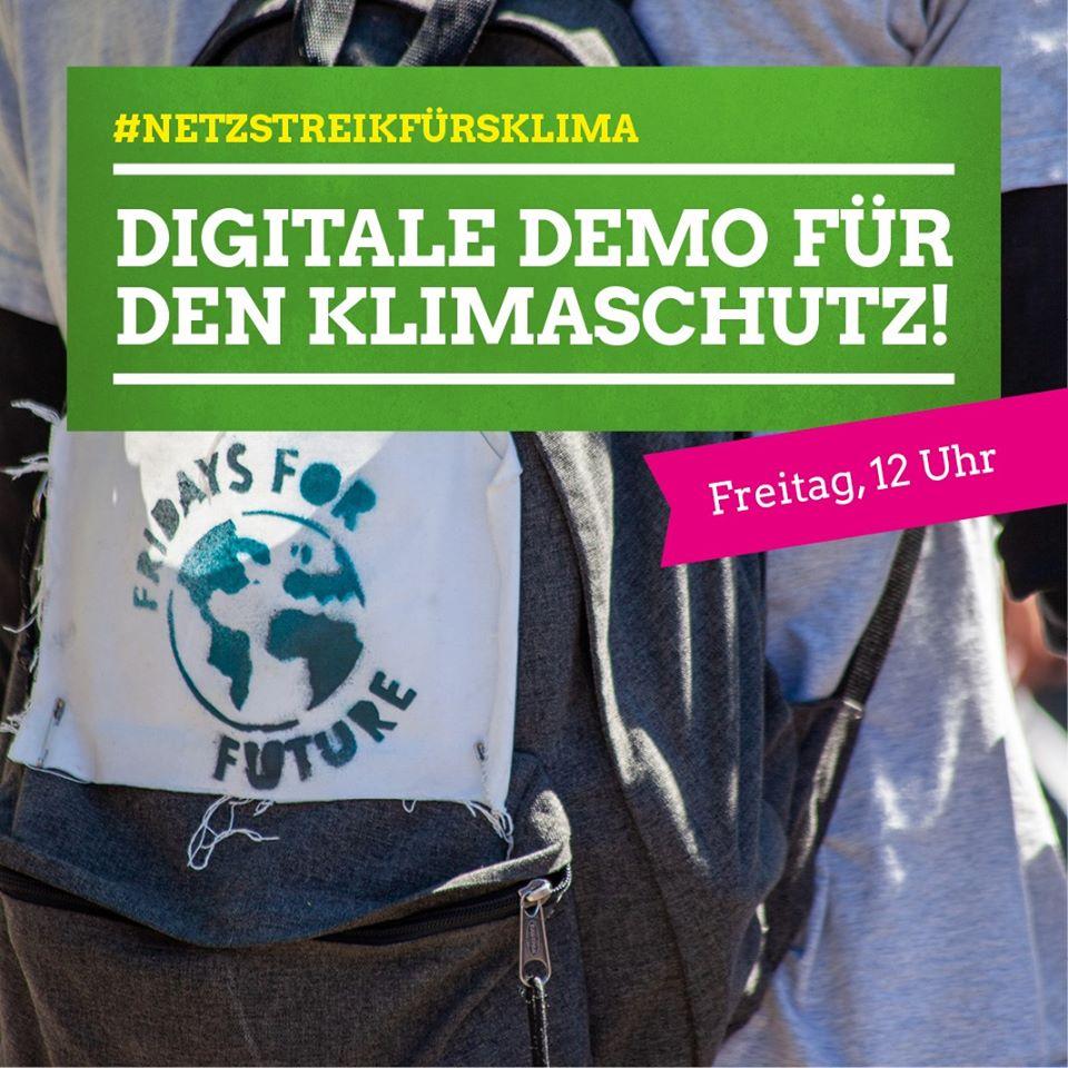 Digitale Demo für den Klimaschutz!