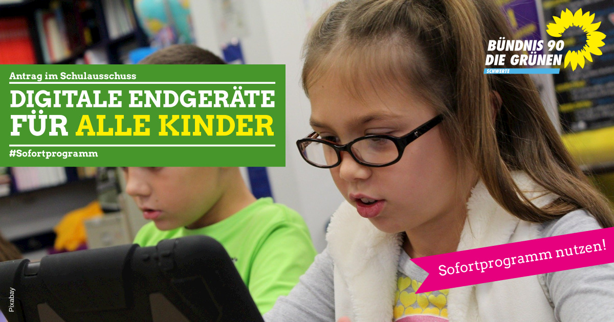 Grüne fordern digitale Endgeräte für alle Schülerinnen und Schüler