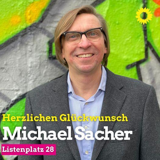 Glückwunsch! Michael Sacher auf Listenplatz 28!