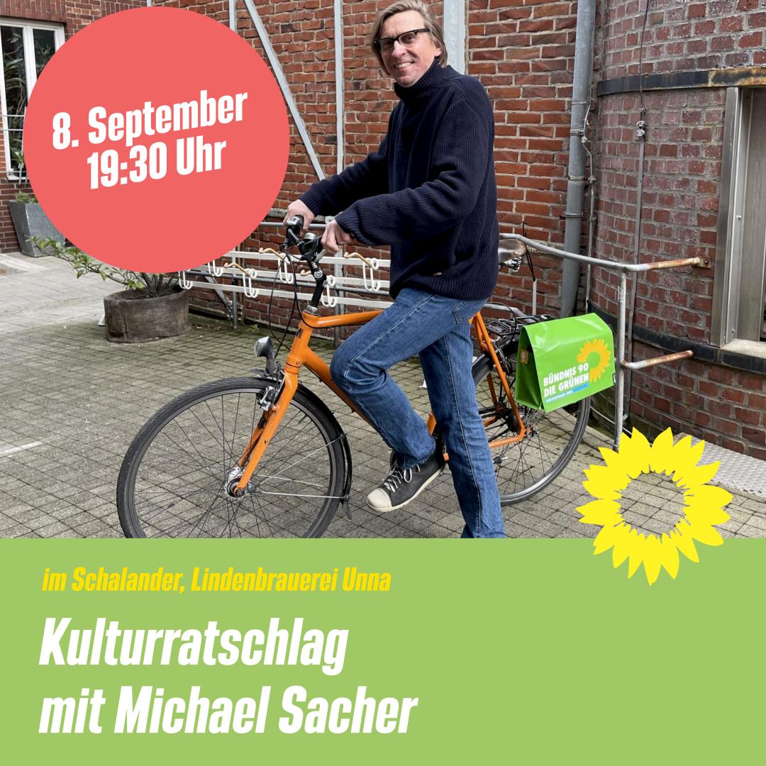Veranstaltungshinweis: Kulturratschlag mit Michael Sacher